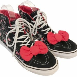 Vans hi top hello kitty sneakers with bow